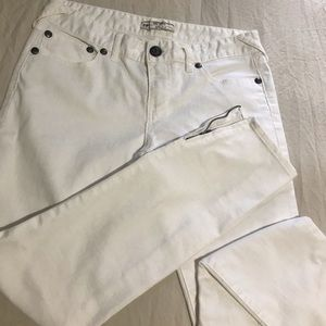 Free people zippered jeans